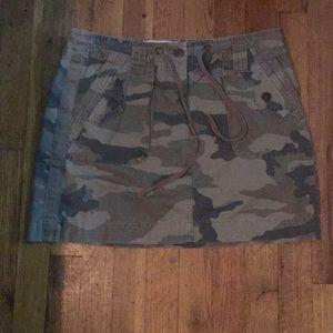 J. Crew camouflage skirt
